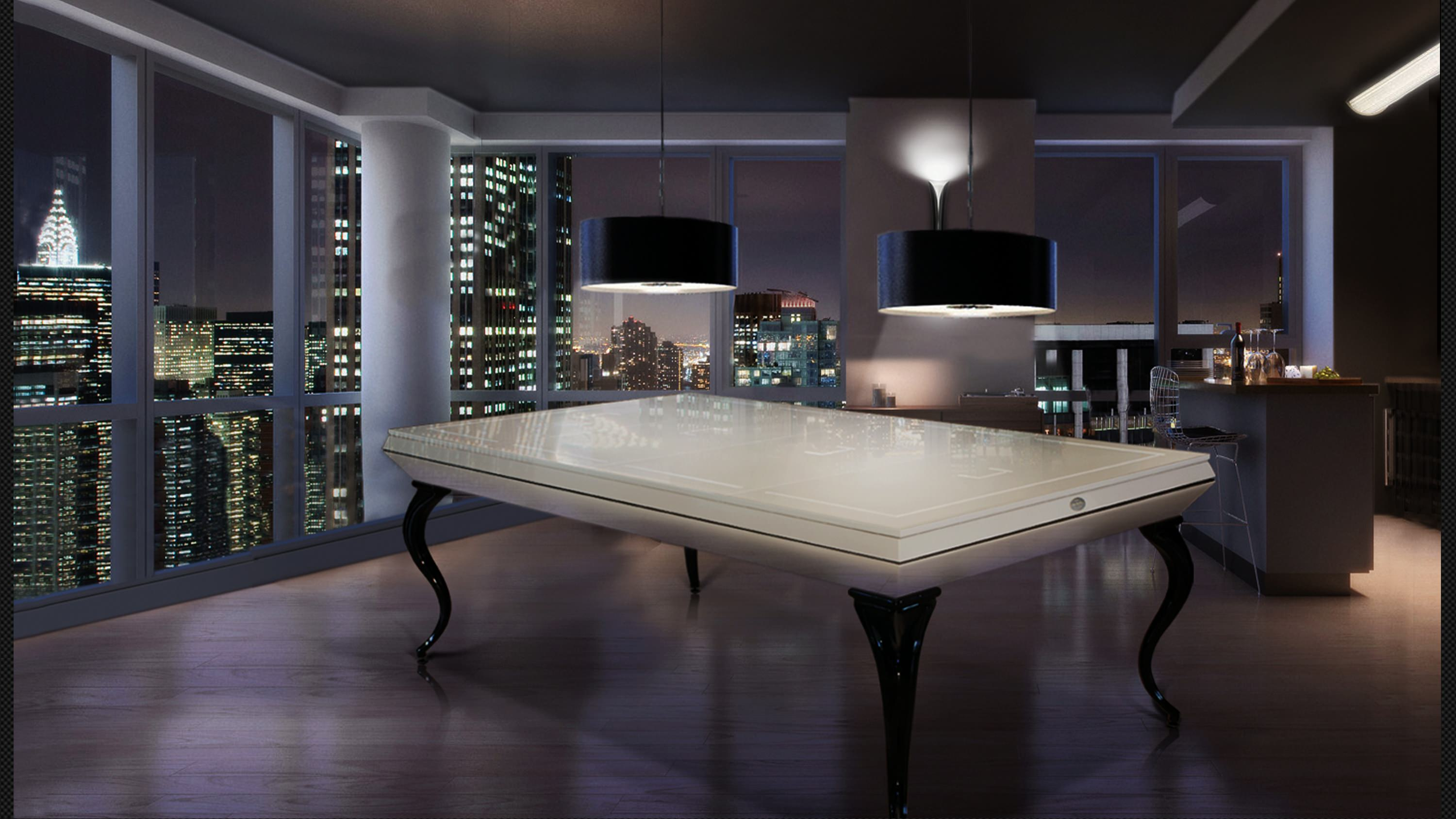 Opera billiard table White Pearled - Showroom Shop 2