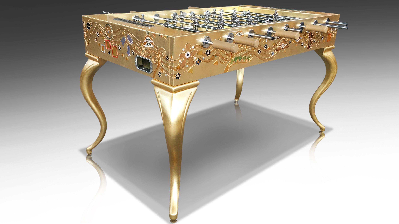Opera Soccertable Klimt Gold Leaf