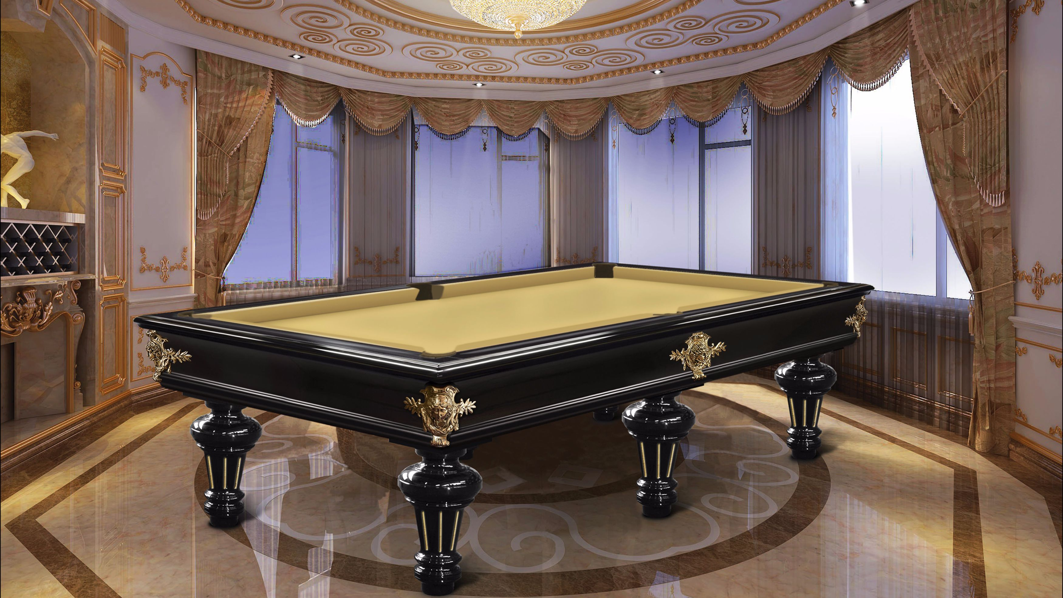 Leonardo Fashion Billiard Pool Table Lacquered 3