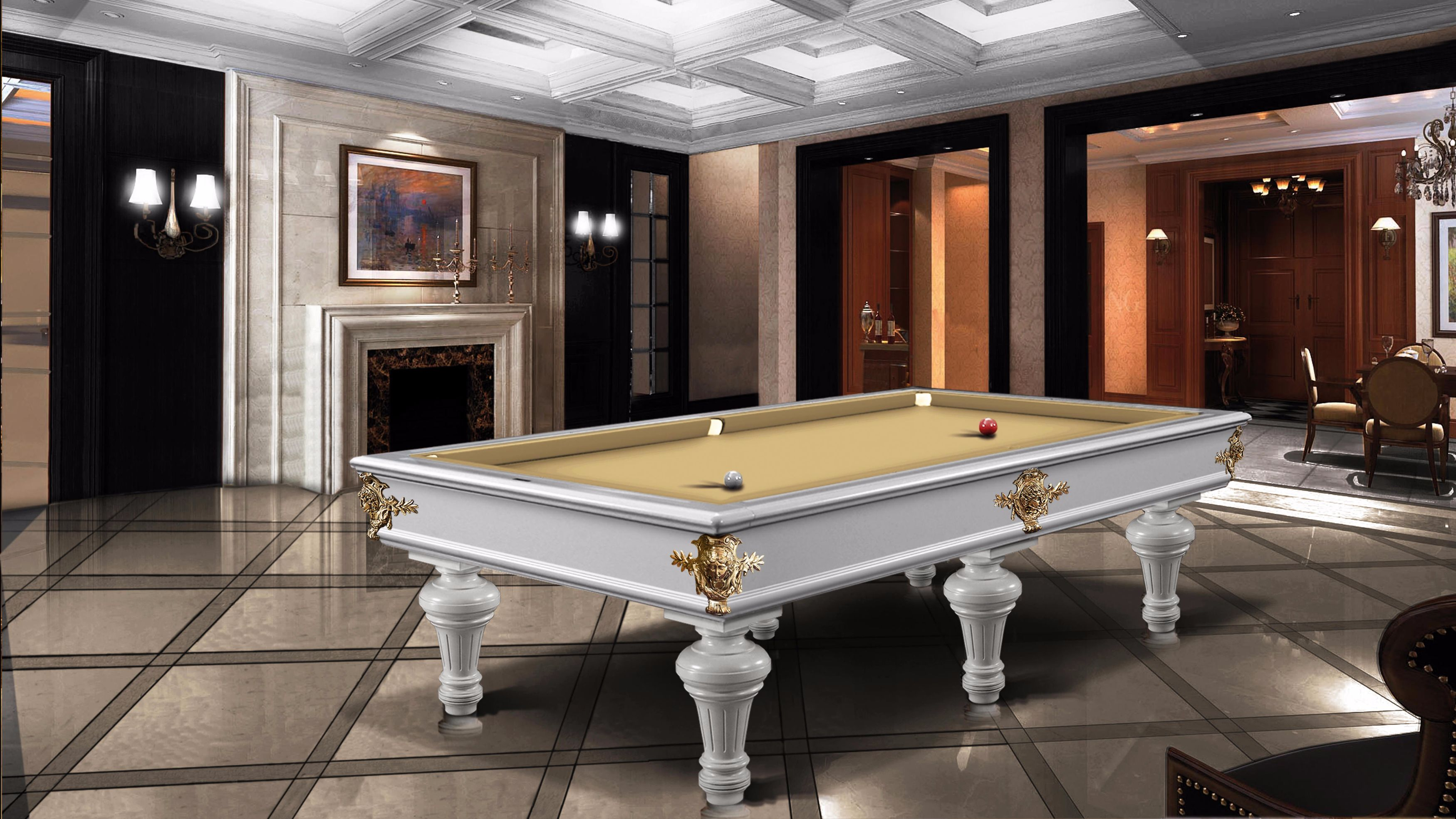 Leonardo Fashion Billiard Pool Table Lacquered 2