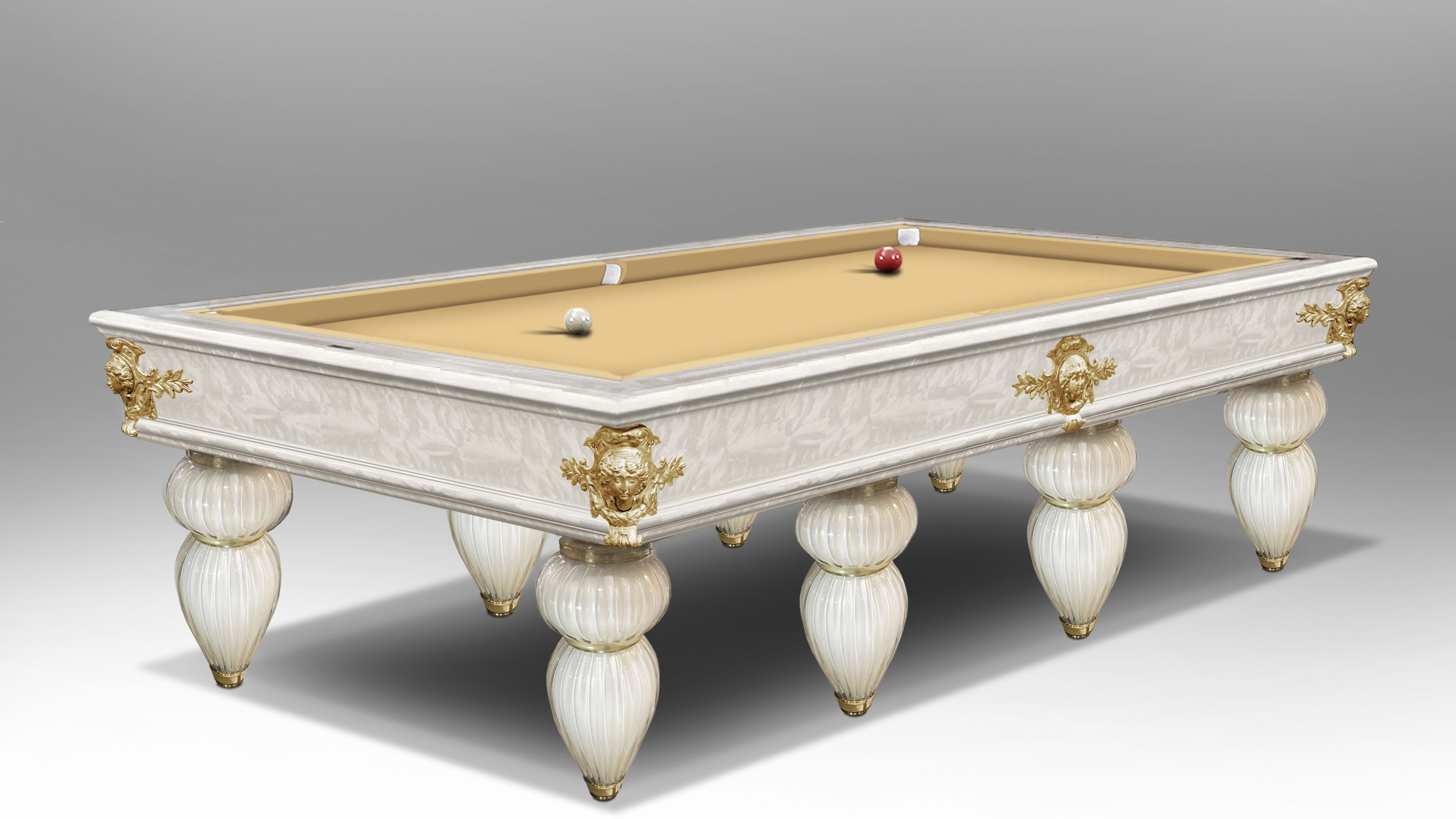 Murano Venice Russian Pyramid Version 6/8 bases  Pool Table 2