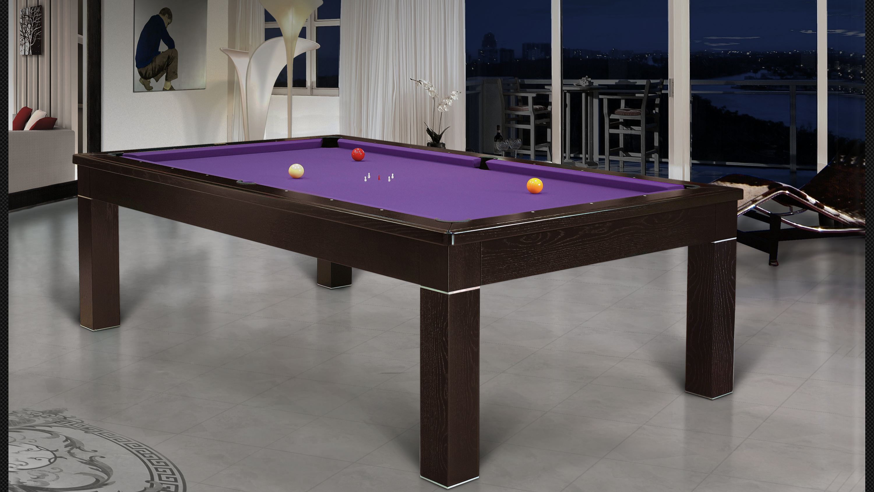 Luxor Billiard Pool Table Lacquered + Woods 5