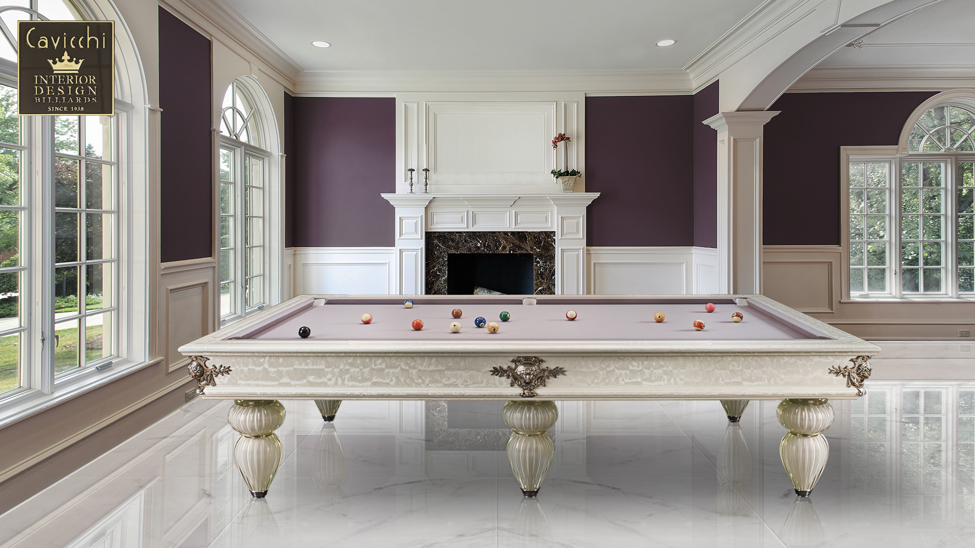 Murano Venice Italian Billiard Pool Table 13