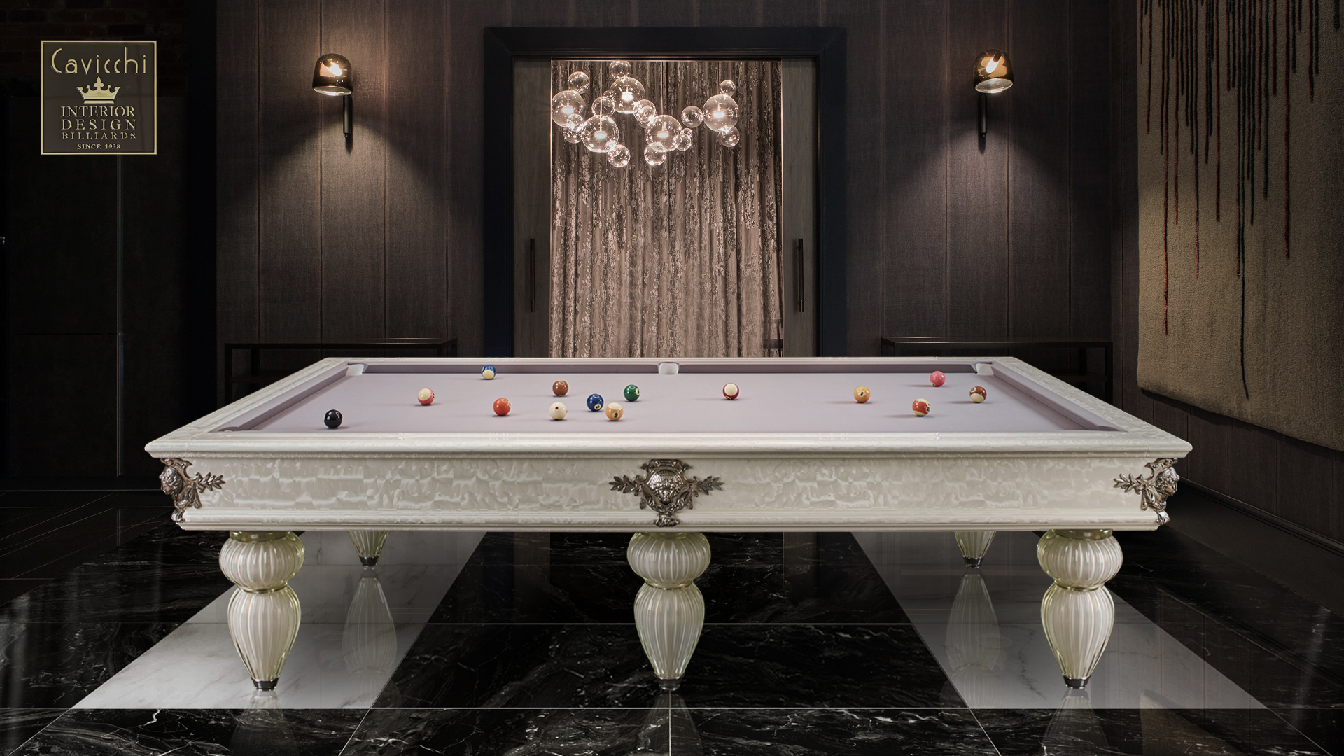 Murano Venice Italian Billiard Pool Table 9