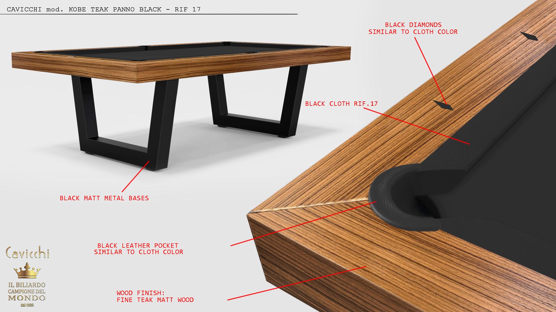 Biliardo tavolo Kobe Teak - Showroom shop 3