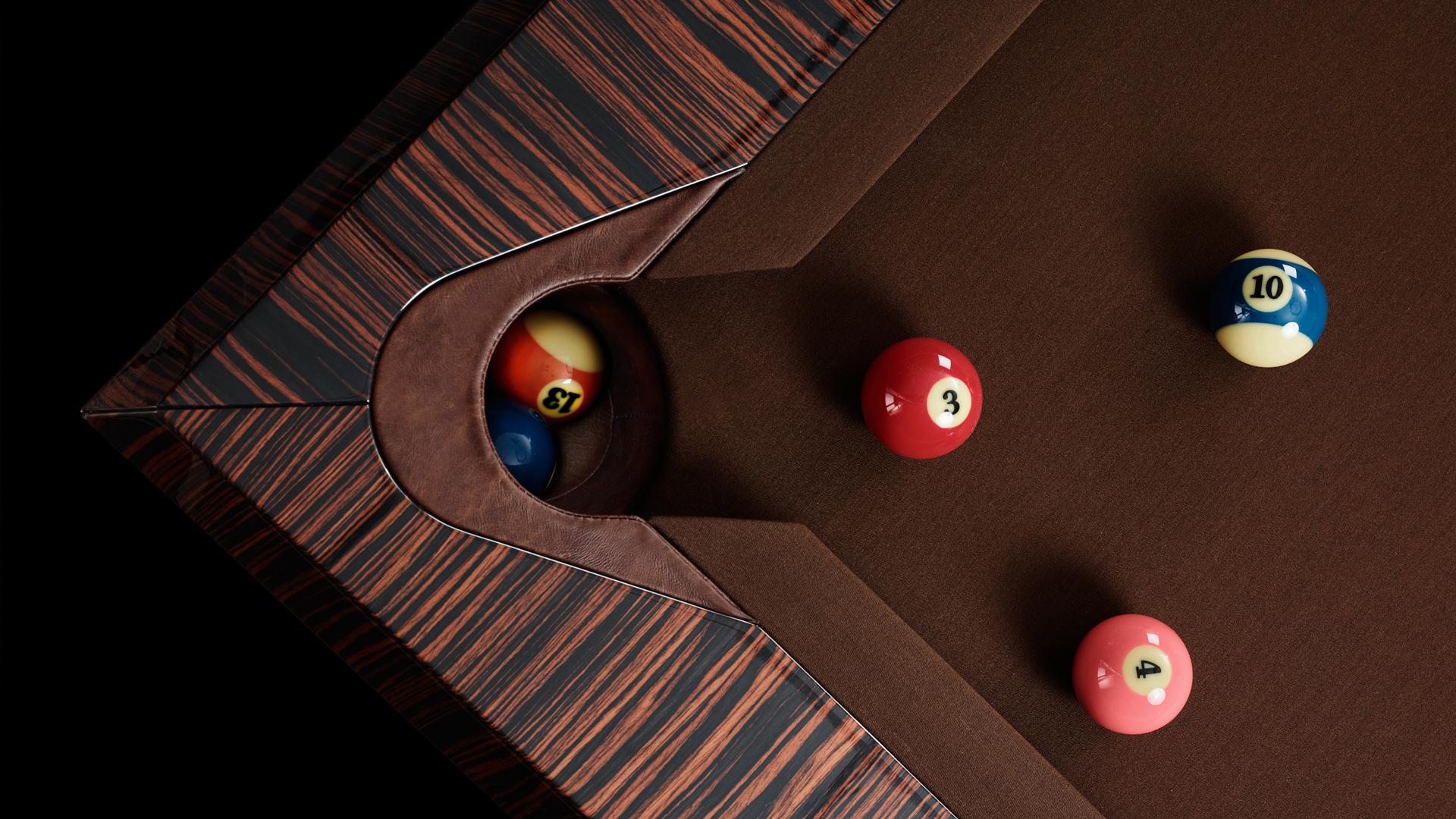 Pool Billiard Tables Opera Makassar Ebony and Zebrano 4