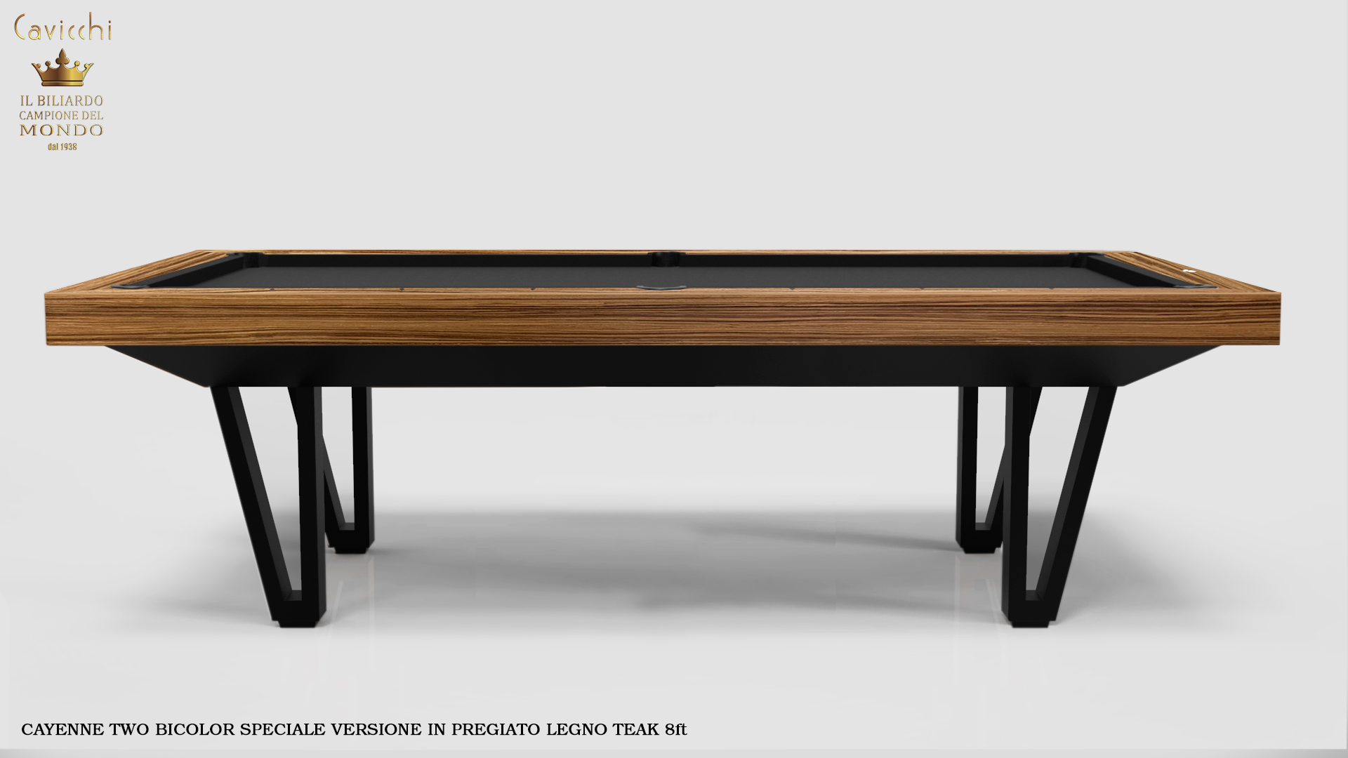 Pool Table Mod. Cayenne Two Bicolor Version 19