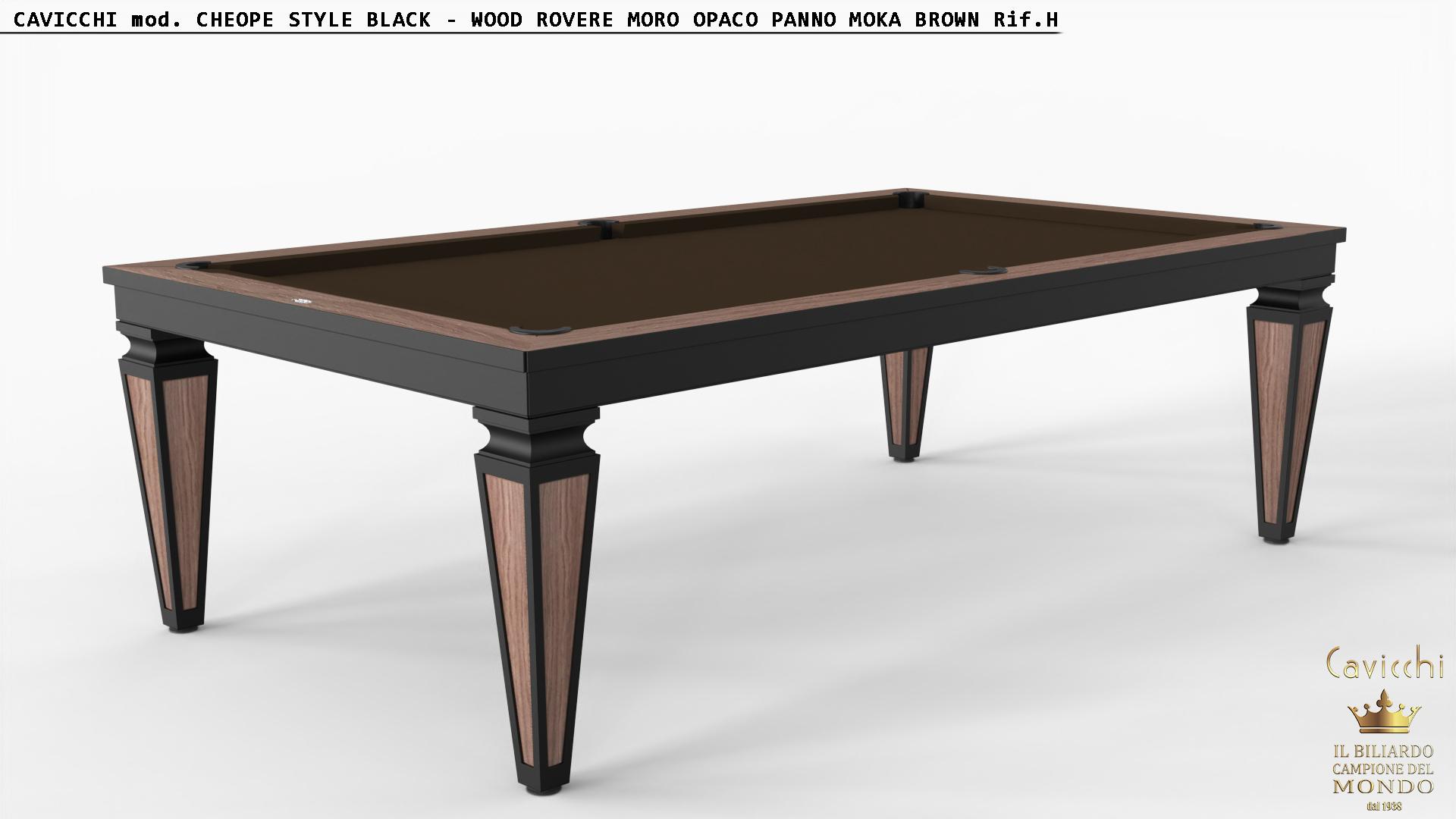 Бильярдный стол Cheope Style черный магазин шоу-рум 3