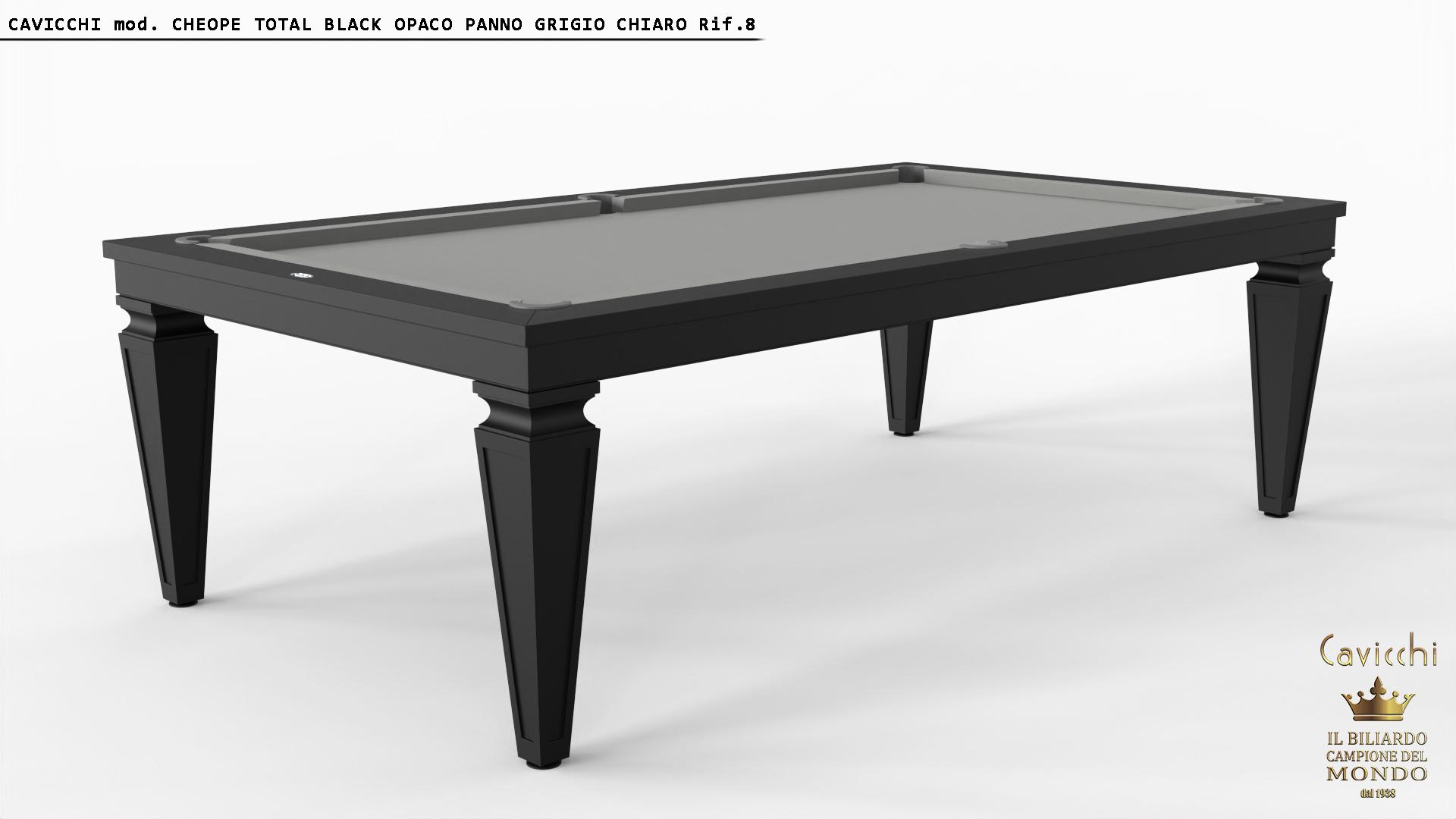 Biliardo-Tavolo Cheope White - Black 8