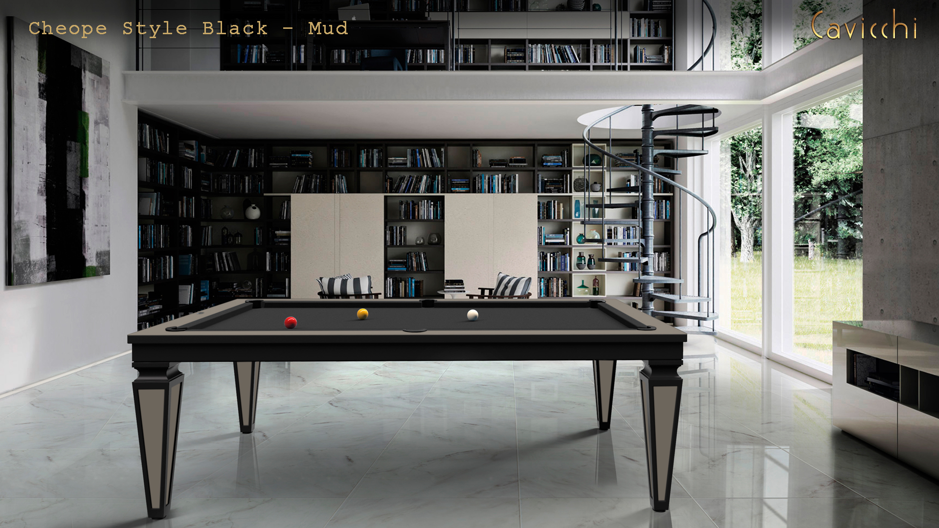 billiard table Cavicchi Cheope Style Black  - Showroom Shop 7