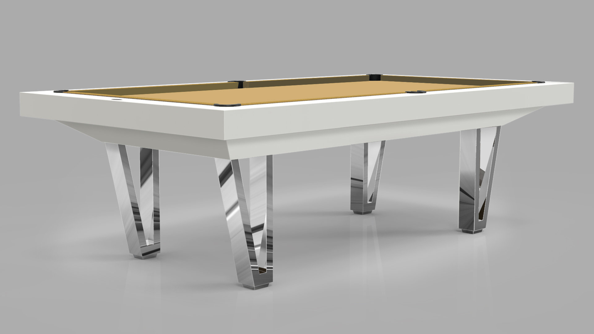 Pool Table mod. Cayenne Two Lacquered metal bases 3
