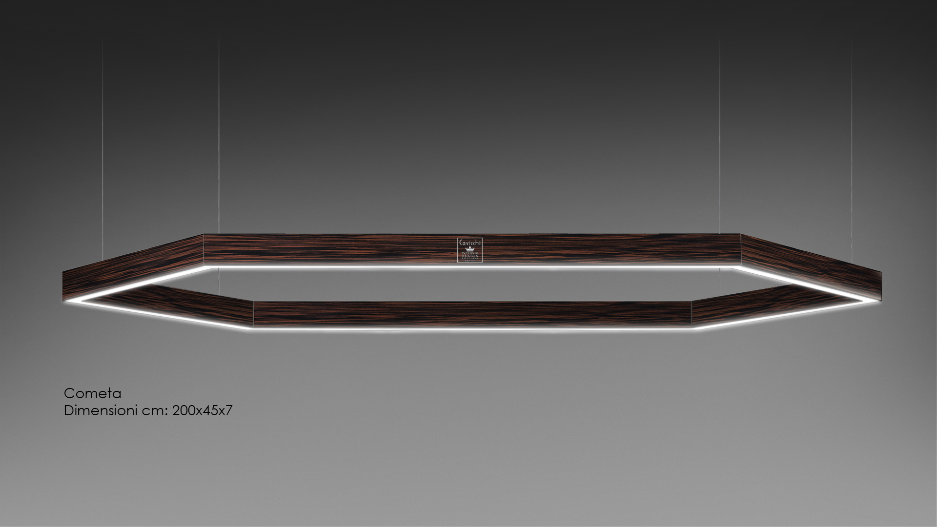 Cometa Lamp lacquered and precious woods 1