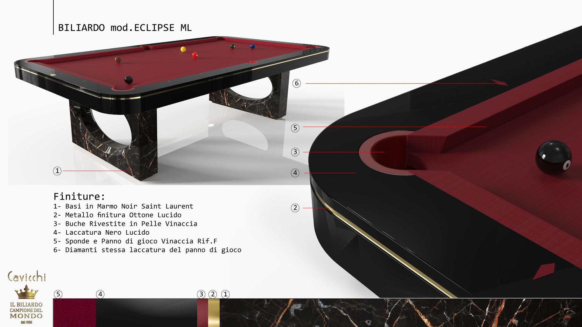 ECLIPSE BILLIARD POOL TABLE 5