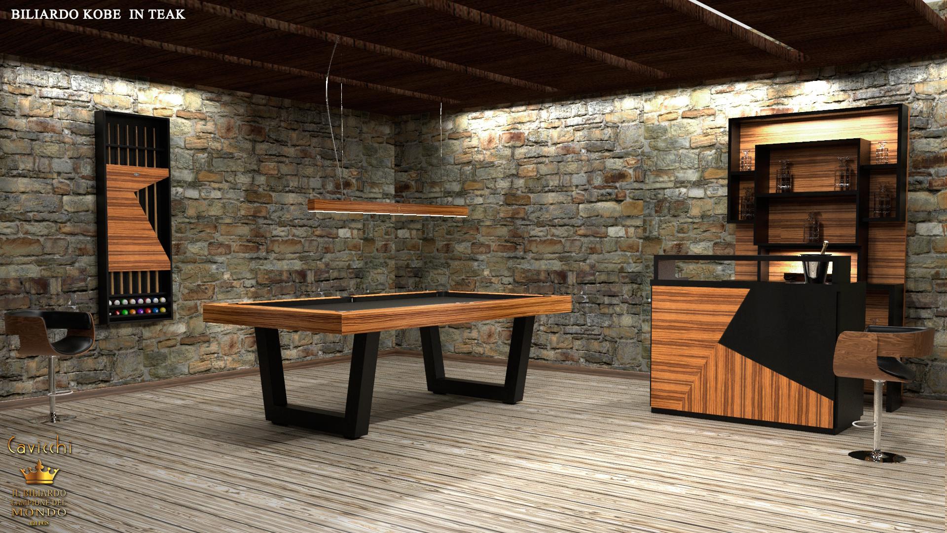 Biliardo tavolo Kobe Teak - Showroom shop 4