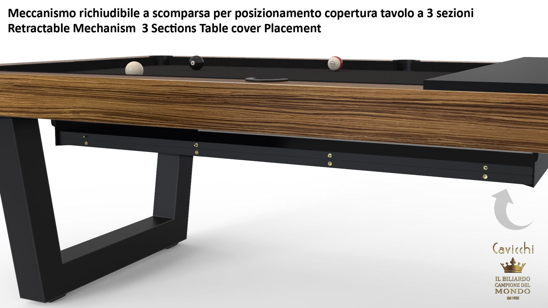 Biliardo Tavolo Kobe Teak 10
