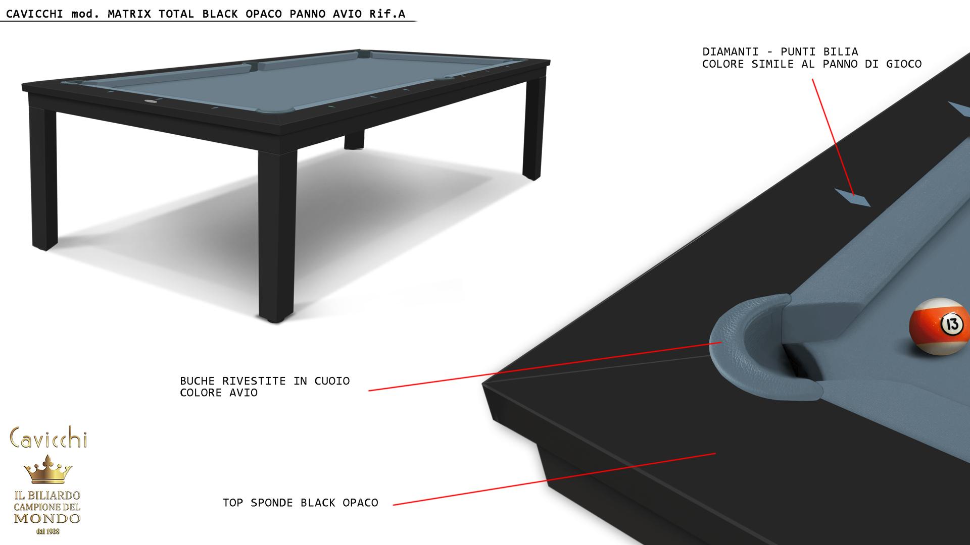 Biliardo-Tavolo Matrix White - Black 9