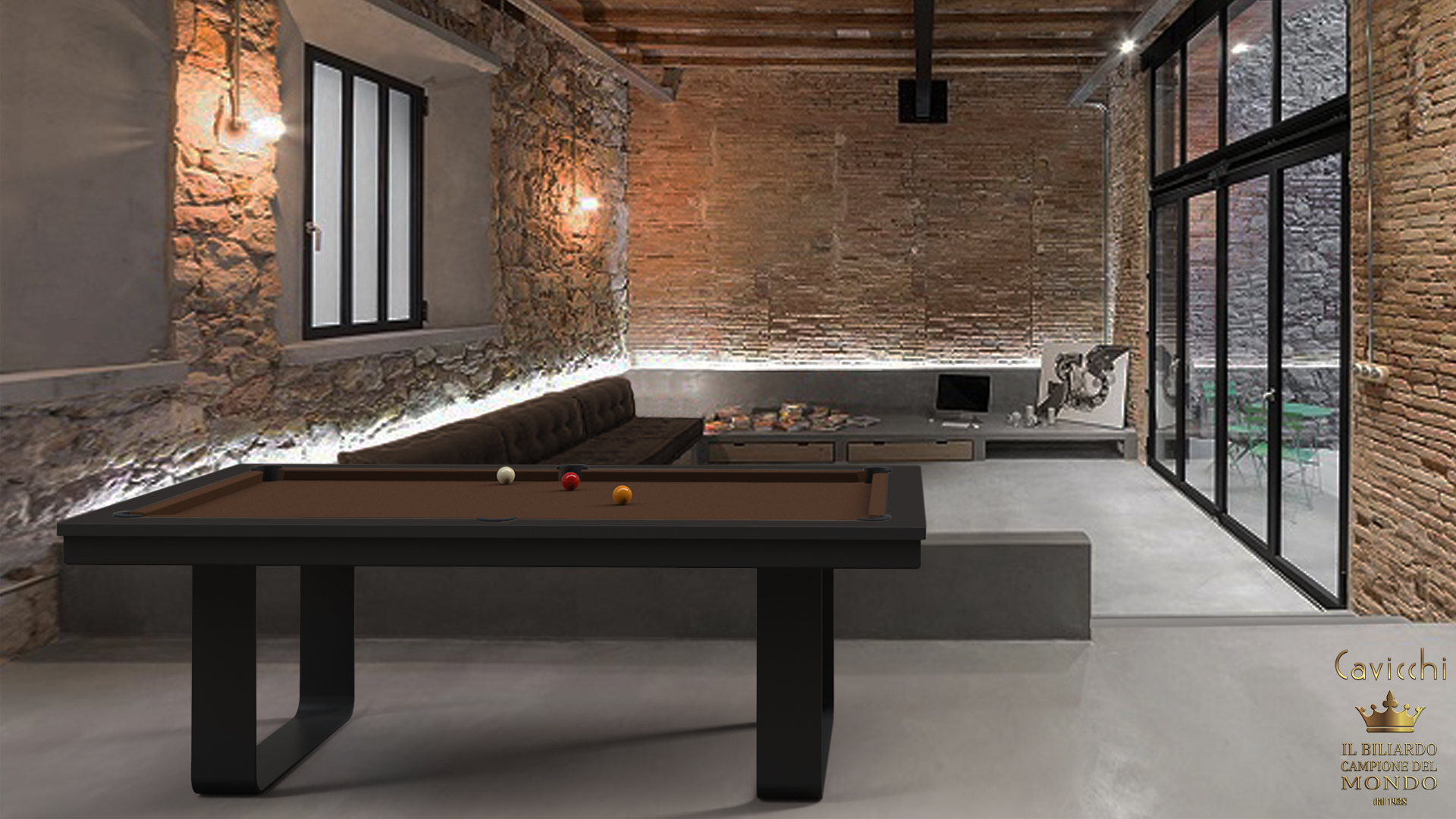 Cavicchi Mistral Black Pool Table 1
