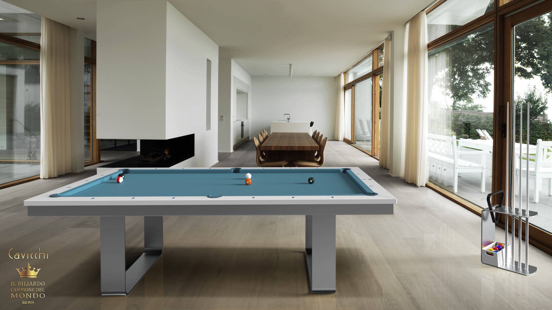 Cavicchi Mistral Deluxe pool table 2