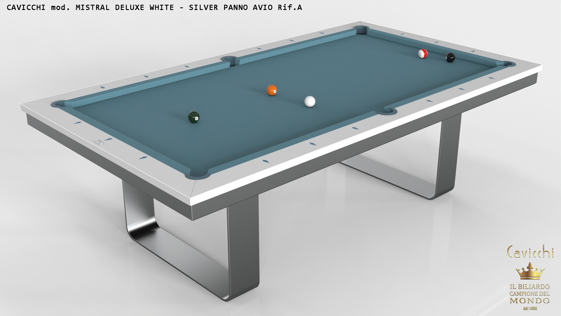 Cavicchi Mistral Deluxe pool table 1