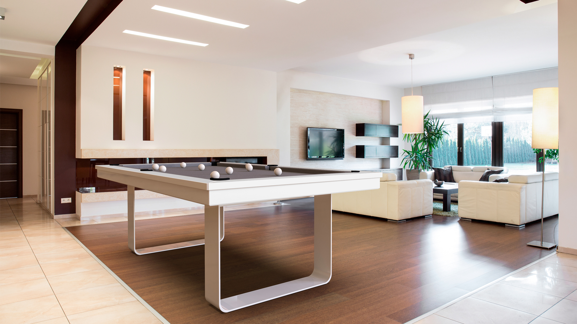 Billiard Table Cavicchi Mistral White - Showroom Shop 1