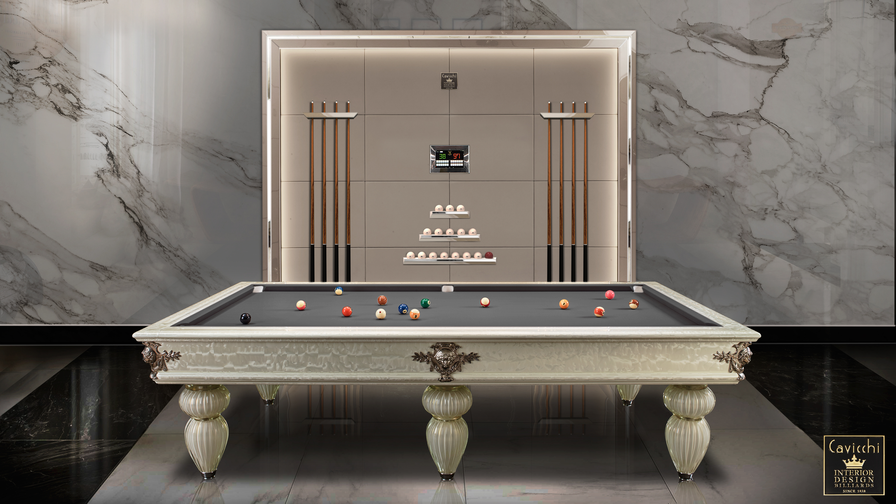 Murano Venice Italian Billiard Pool Table 1