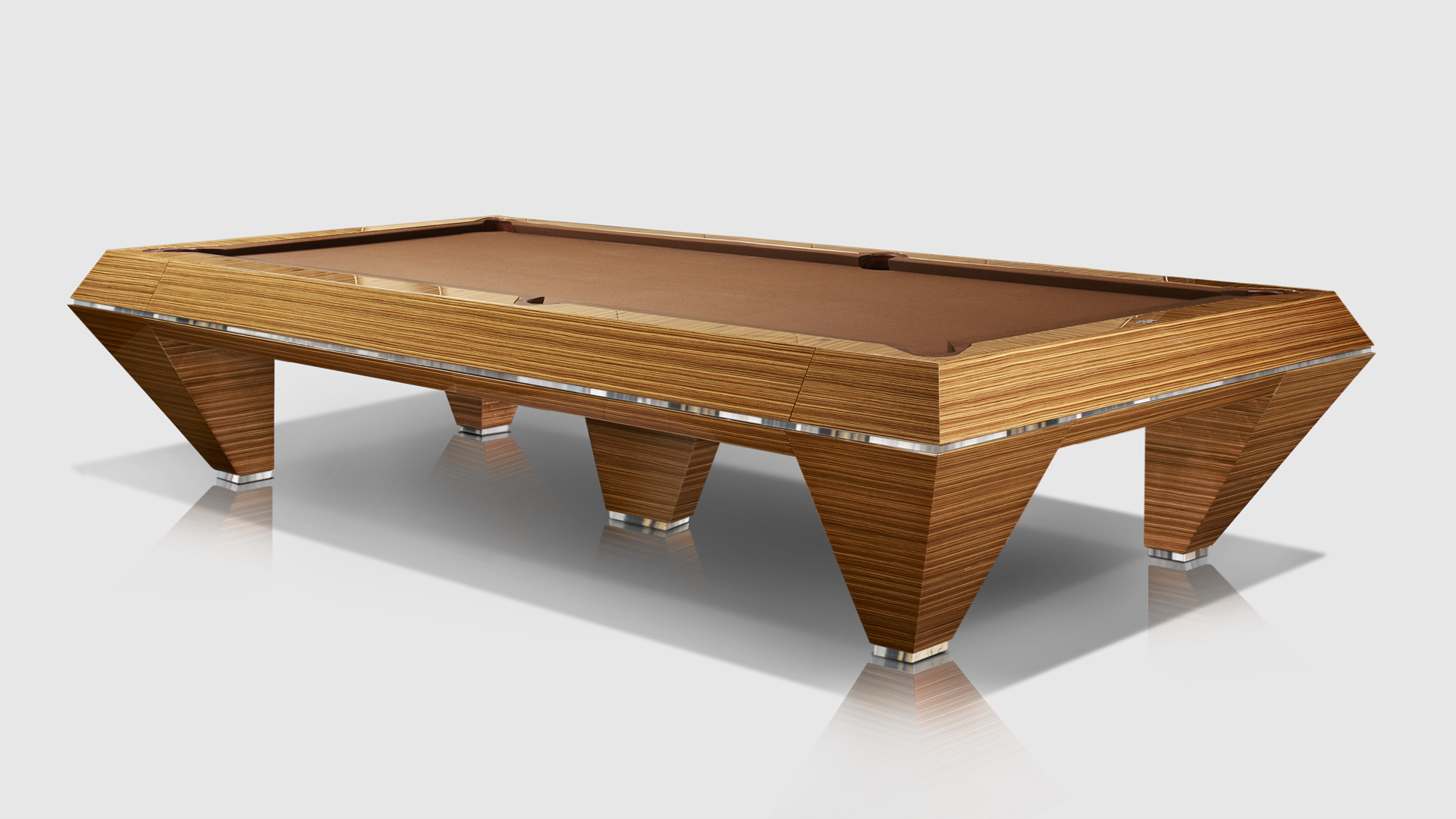 Millennium Precious Woods Ebony Makassar/Zebrano 5 bases Billiard Pool Table 2