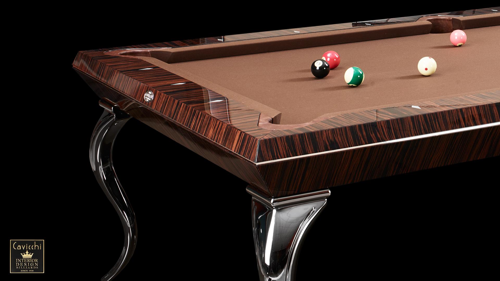 Pool Billiard Tables Opera Makassar Ebony and Zebrano 3