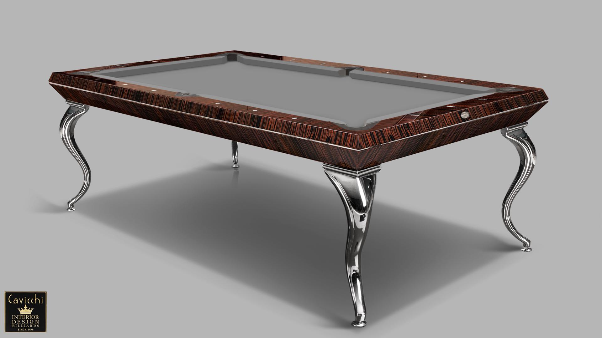 Pool Billiard Tables Opera Makassar Ebony and Zebrano 7