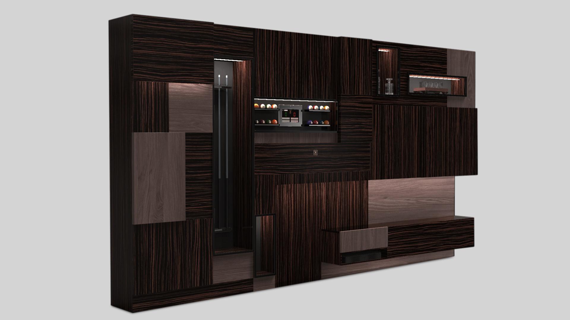 Оборудованная мебельная стенка Teka W46 7