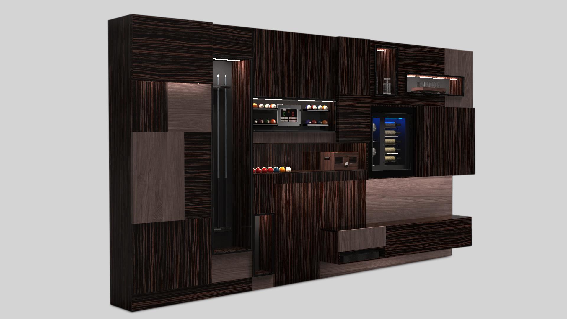 Оборудованная мебельная стенка Teka W46 5