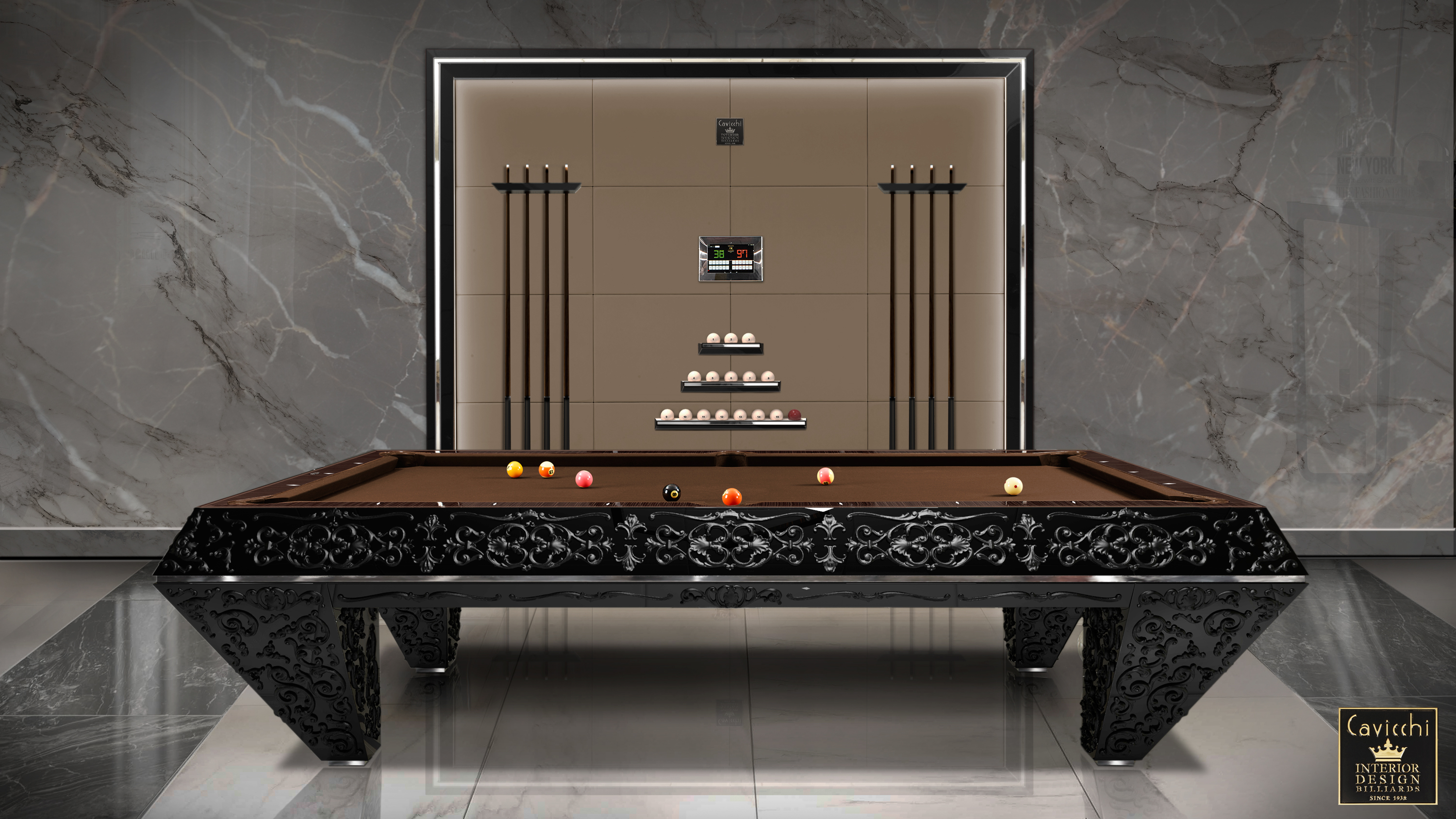 Pasha' Billiard Pool Table 12