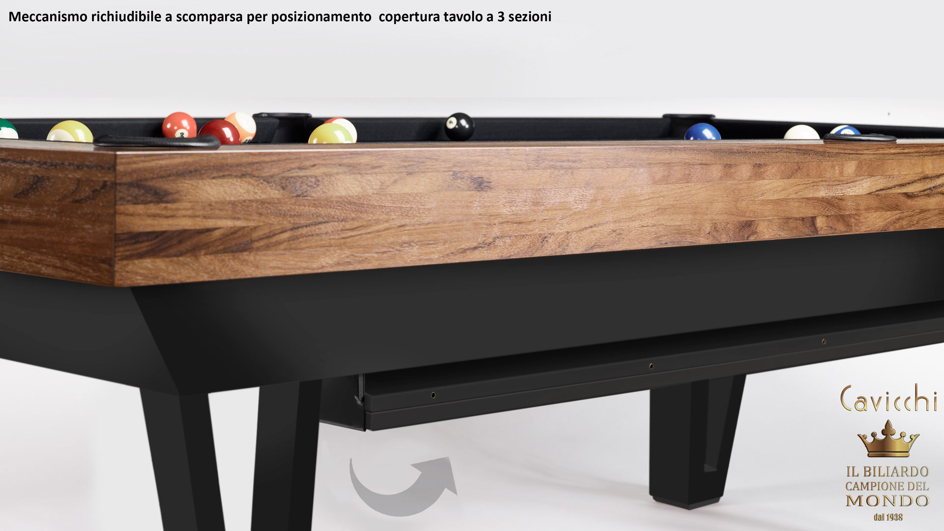Pool Table Mod. Cayenne Two Bicolor Version 12