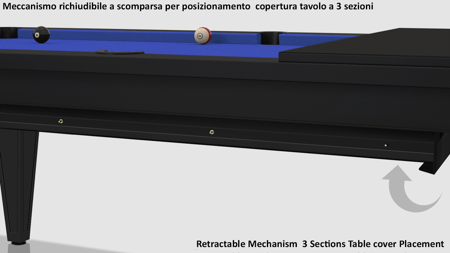 Cavicchi Cheope Black Pool Table 8