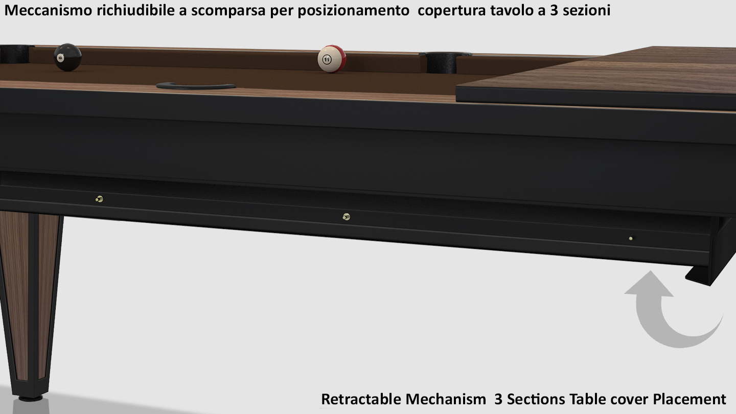 Cavicchi Cheope Style Black Pool Table 9