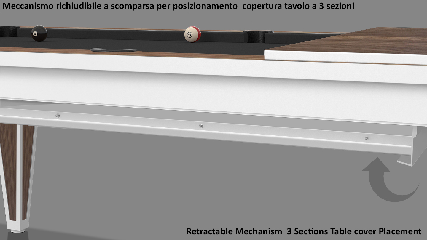 Cavicchi Cheope White Style Pool Table 7