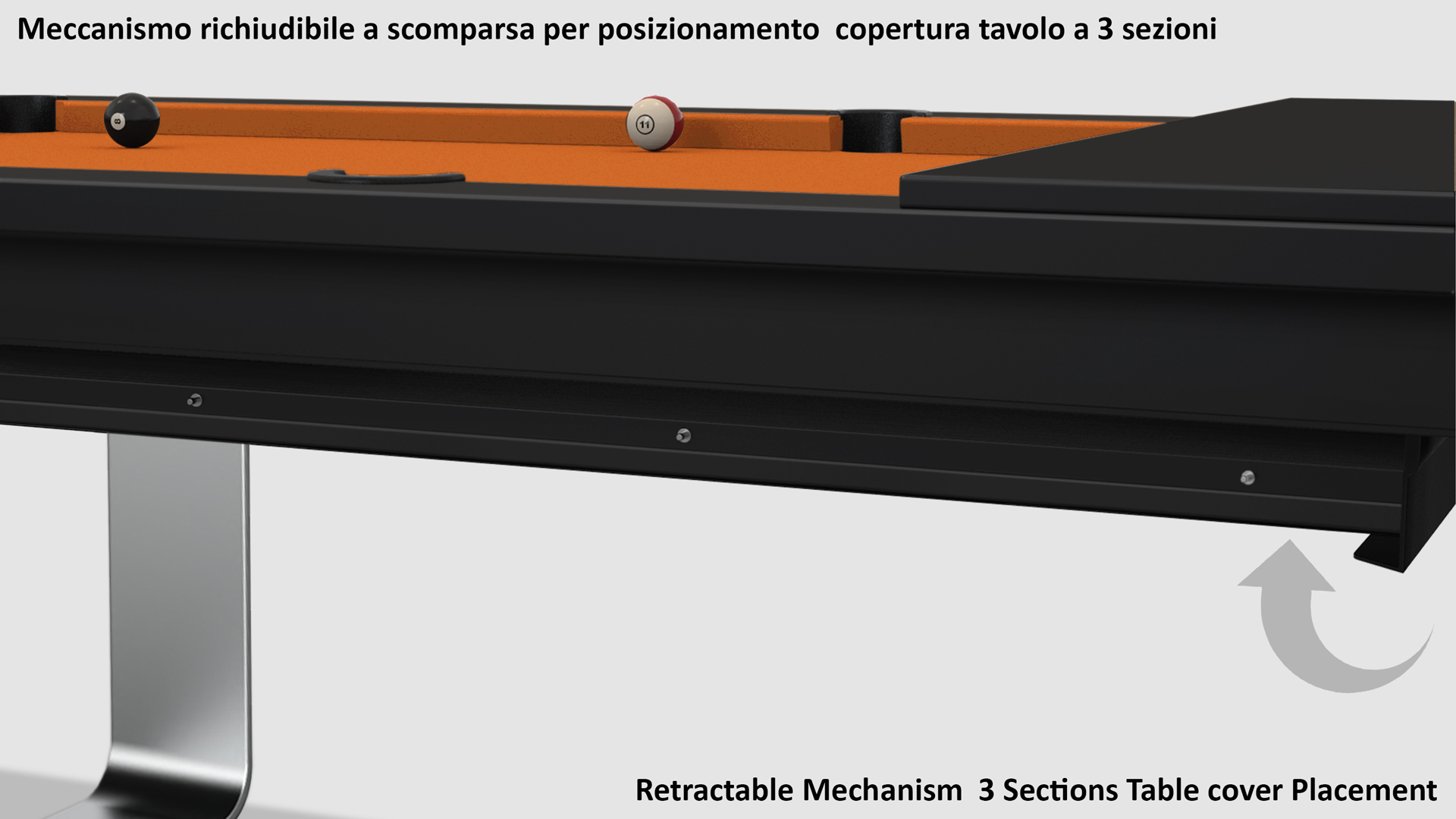 Cavicchi Mistral Deluxe pool table 8