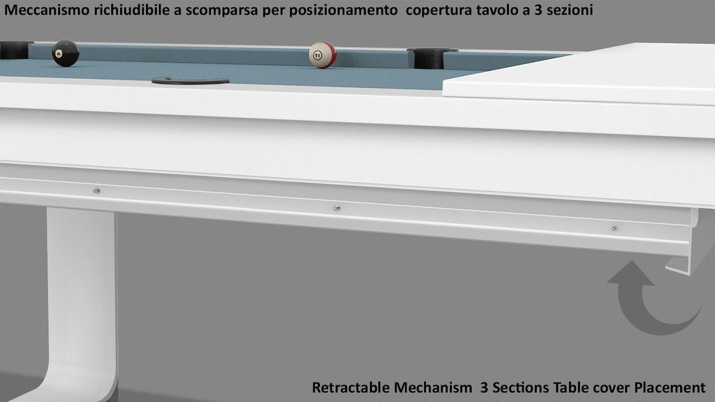 Billiard Table Cavicchi Mistral White - Showroom Shop 6