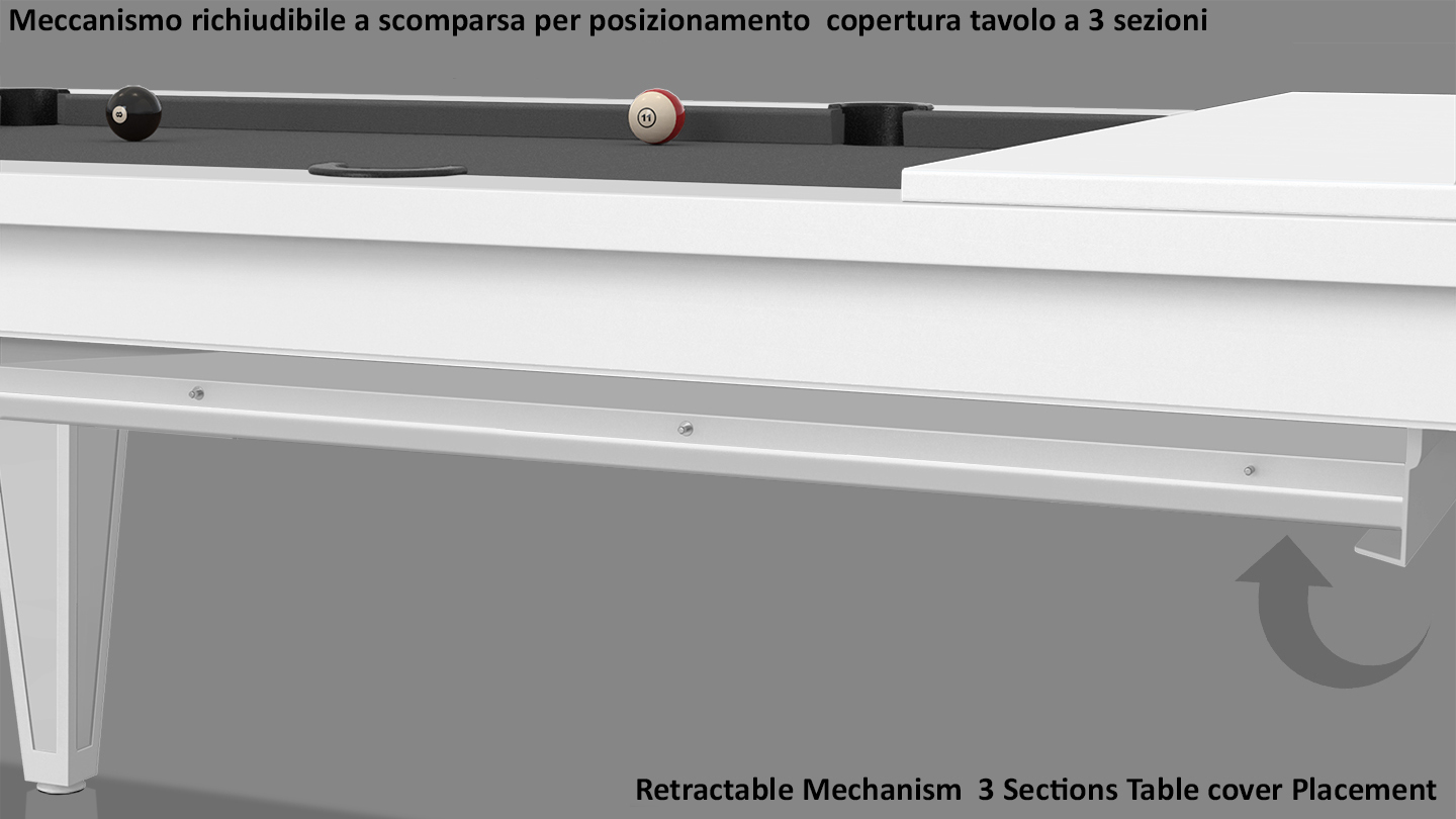 Cavicchi Cheope White Pool Table 8