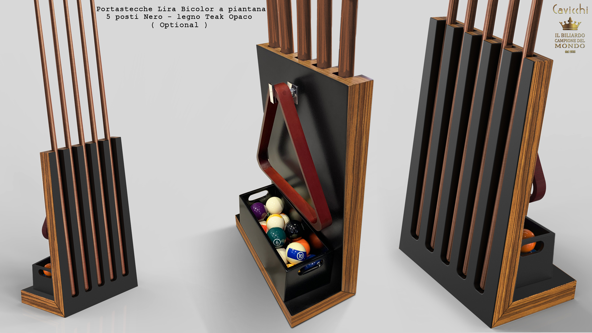 Pool Table Mod. Cayenne Two Bicolor Teak / Walnut Version 13