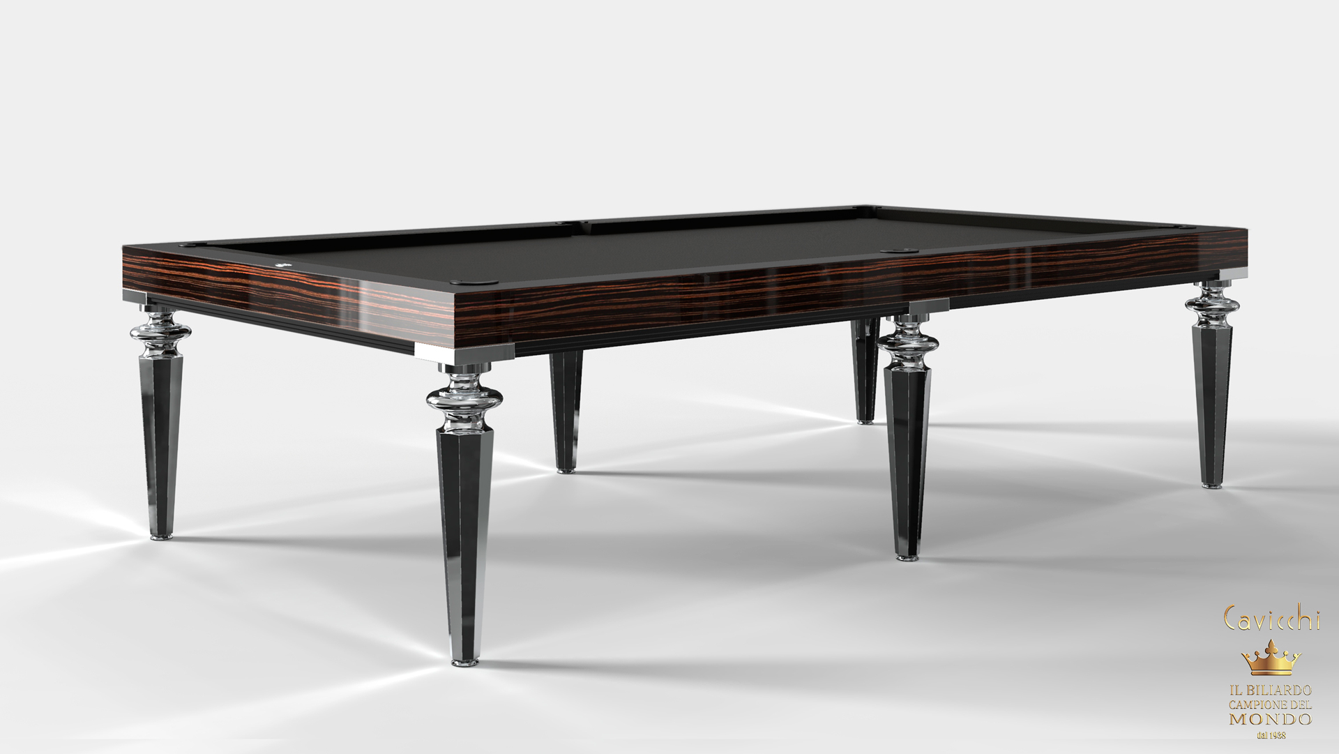 Pool Table Princess Bicolor Ebony Makassar Wood 8