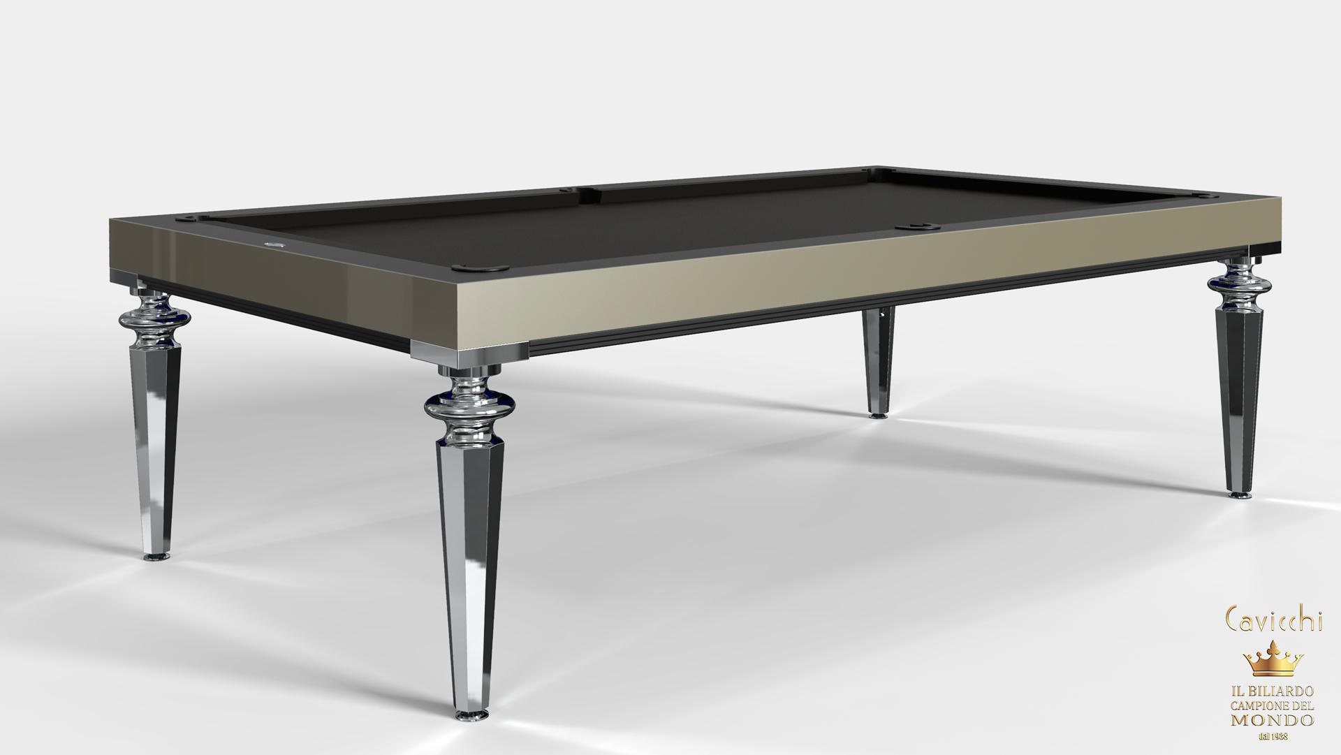 Pool Table Princess Bicolor Ebony Makassar Wood 6