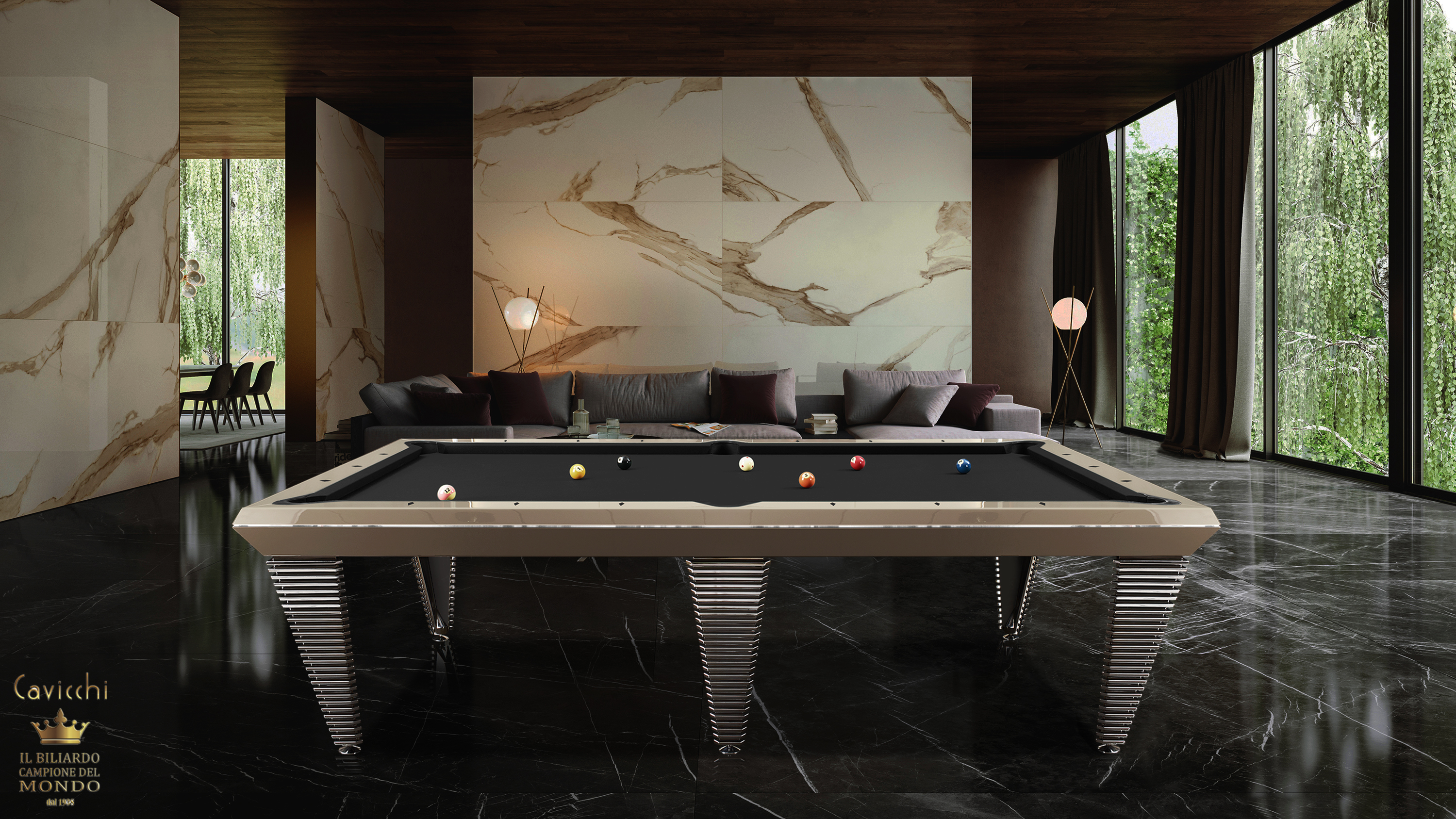 Pyramid Billiard Pool Table 2