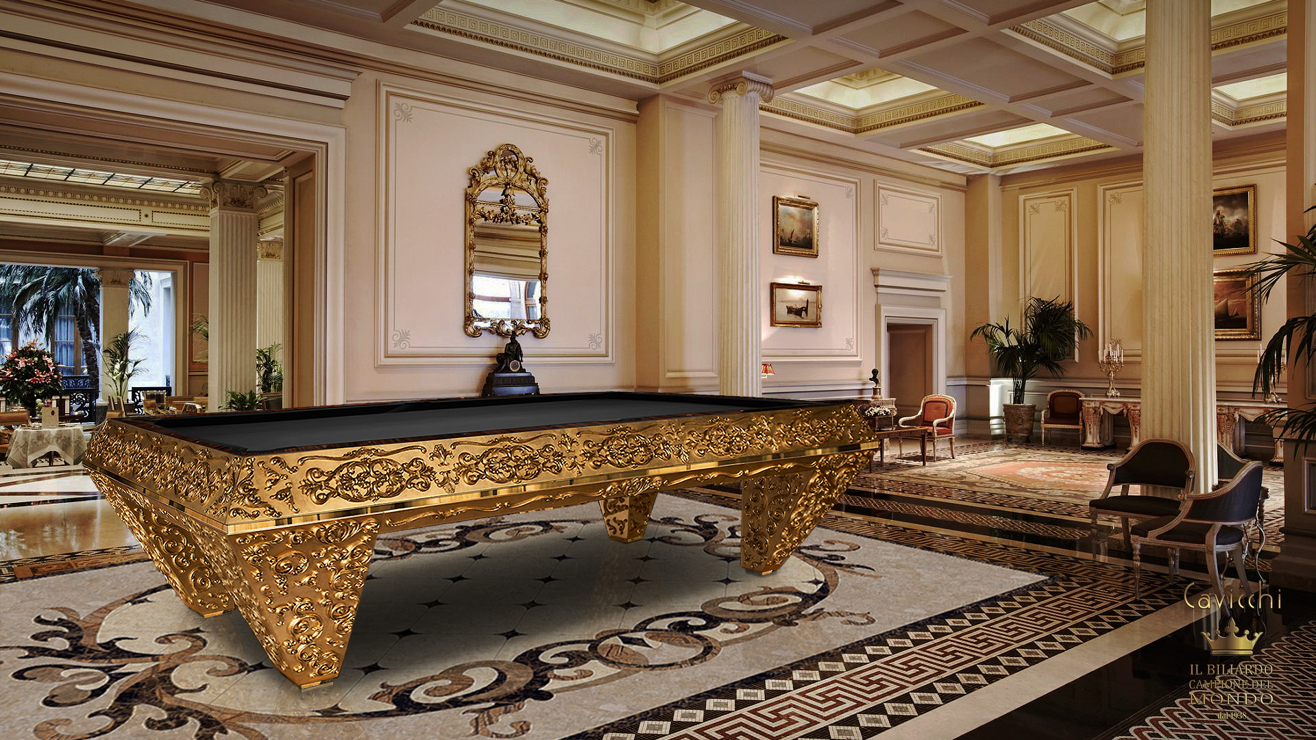 Pashà Gold Pool Table - Showroom Shop 1