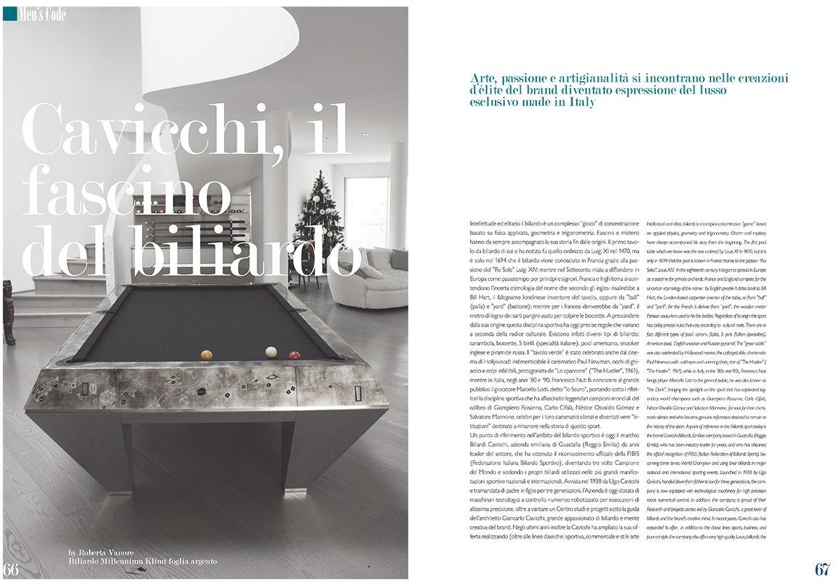 Cavicchi il fascino del biliardo su livein style rivista for Mondo biliardo