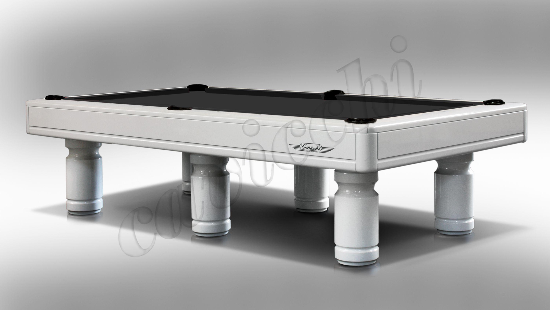 (RIF. P-12) Luxury Biliardo Cavicchi  Pool Evolution Laccato bianco a 6 basi 1