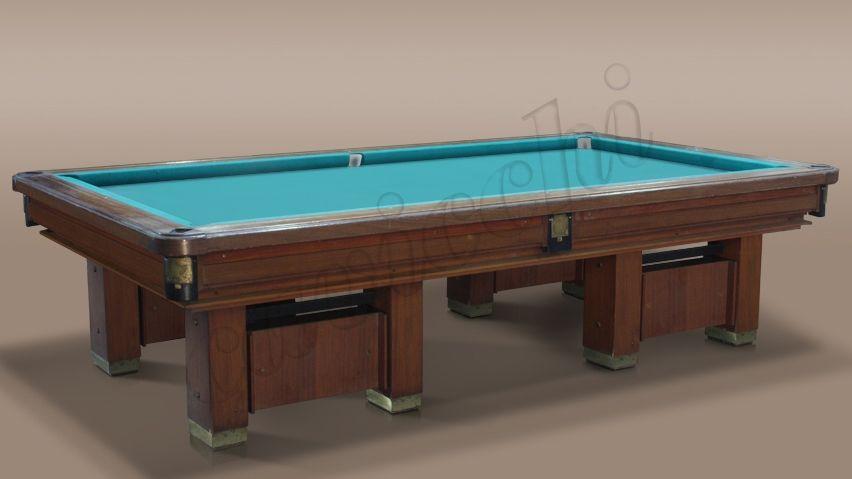 (RIF. B-5) Biliardo Classico usato d'occasione con buche a 4 basi 1