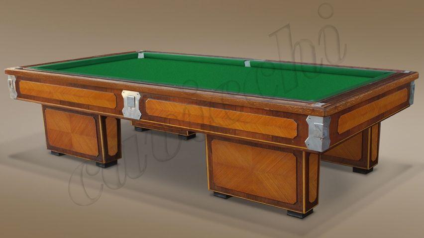 (RIF. B-10) Biliardo Classico usato d'occasione con buche 4 basi in legno 1