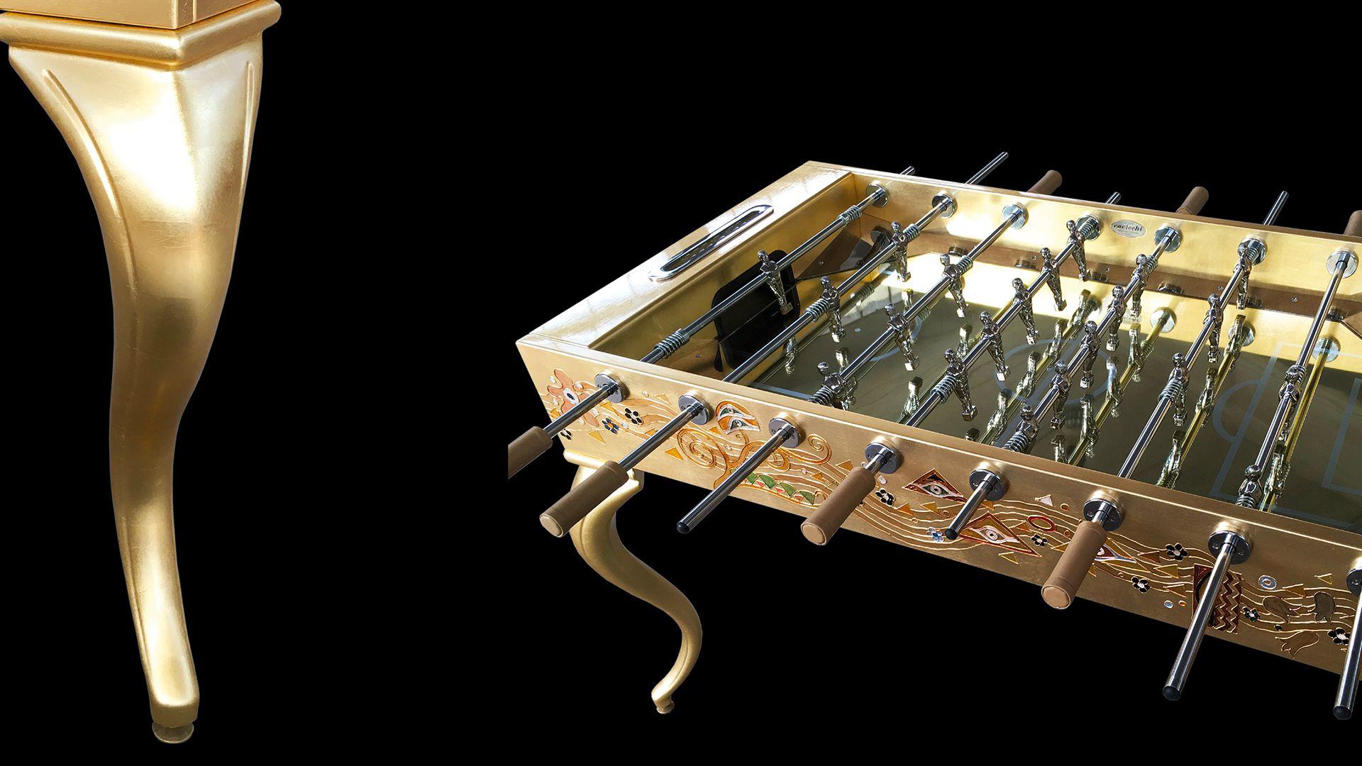Opera Soccertable Klimt Gold Leaf 1