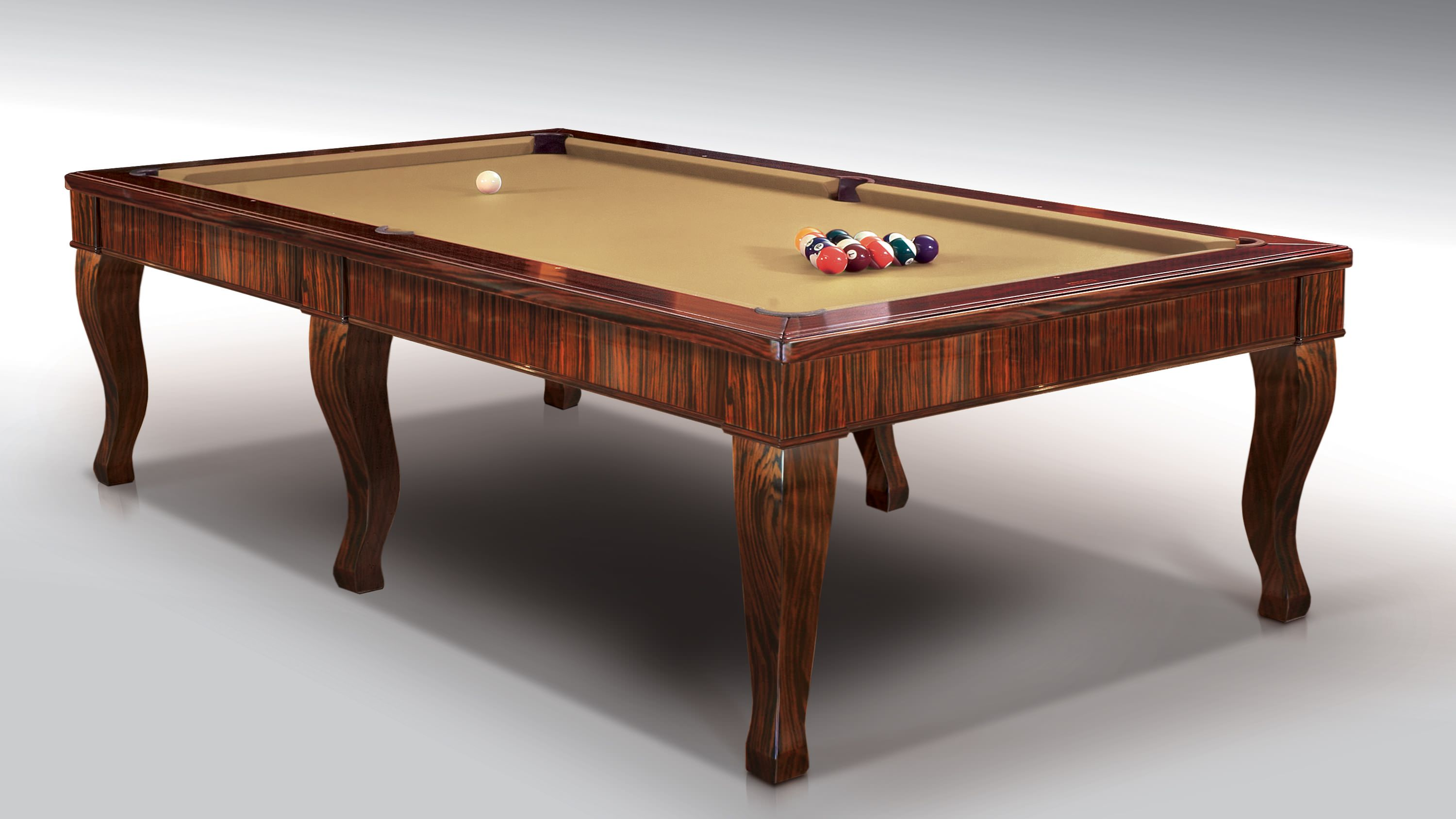Canossa Ebony billiard Pool Table 6 bases 2