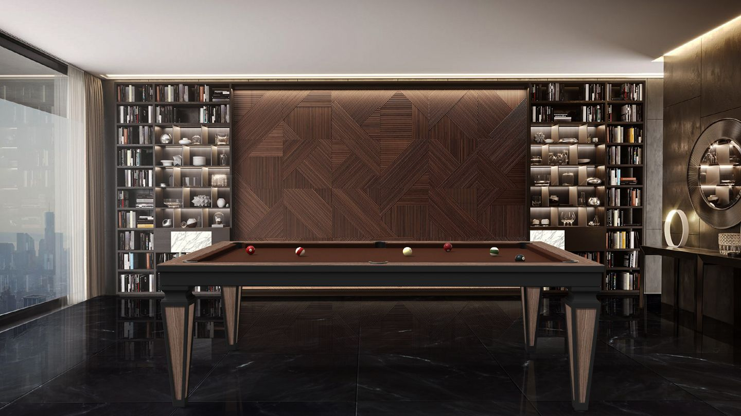 Cavicchi Cheope Style Black Pool Table 1